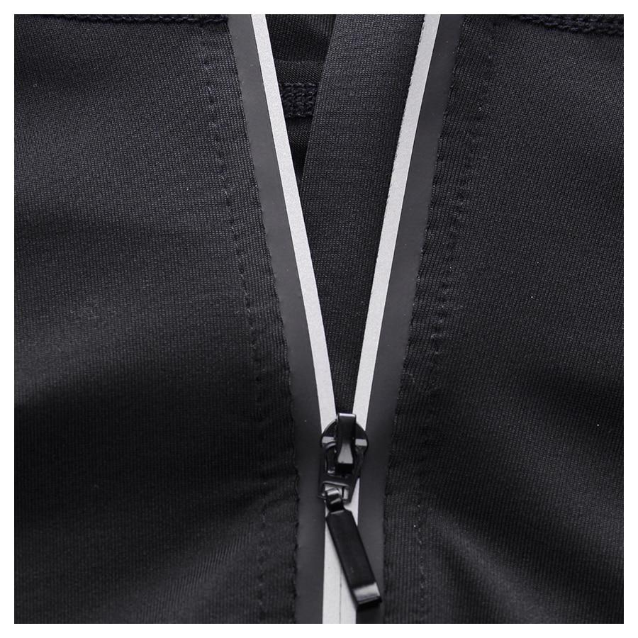 New Rashgard Hooded Sport Shirt Men Long Sleeve Zipper Running T Shirt Men Hoody Compression Shirt Gym Tshirt Fitness Top 5