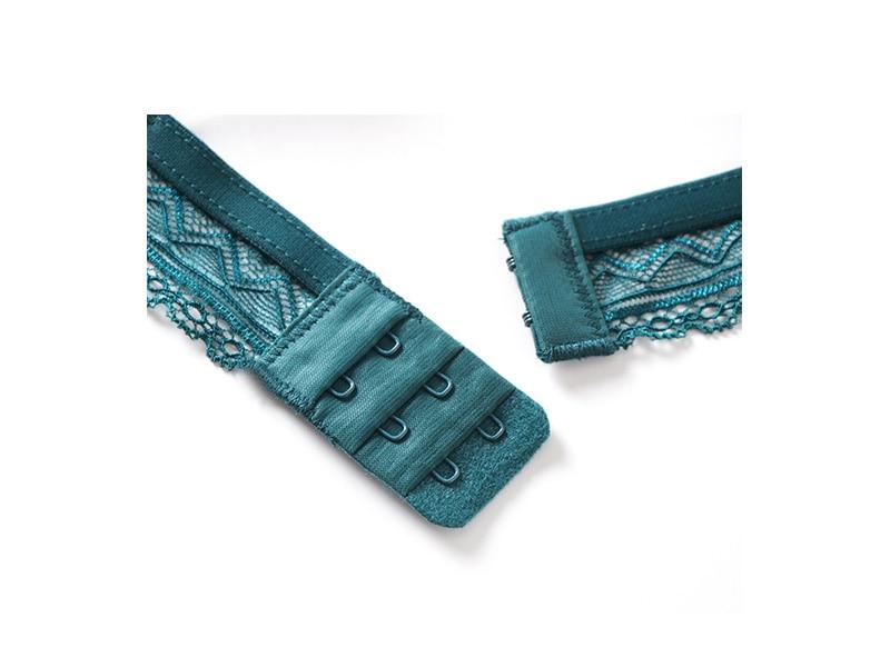 Sexy Mousse Satin lace ultra thin bras set wireless dot Bralette thin triangular cup underwear women