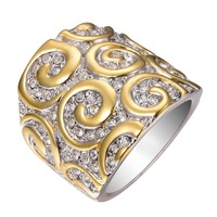 Factory Price Multi White Sapphire 925 Sterling Silver Fashion Design Ring Size 6 7 8 9