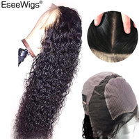 Eseewigs шелковая основа полные парики шнурка человеческих волос бразильские Remy бесклеевые парики для черных женщин глубокие кудрявые полност