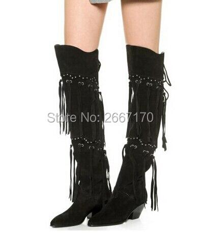 Popular Fringe Knee High Boots-Buy Cheap Fringe Knee High Boots ...