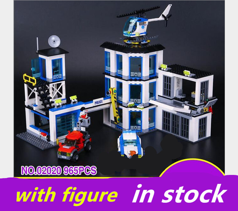 LEPIN Police Station 02020 City Series compatible legoing Police Station 60141 Set Children Educational Building Blocks Bricks 965pcs city police station model building blocks 02020 assemble bricks children toys movie construction set compatible with lego