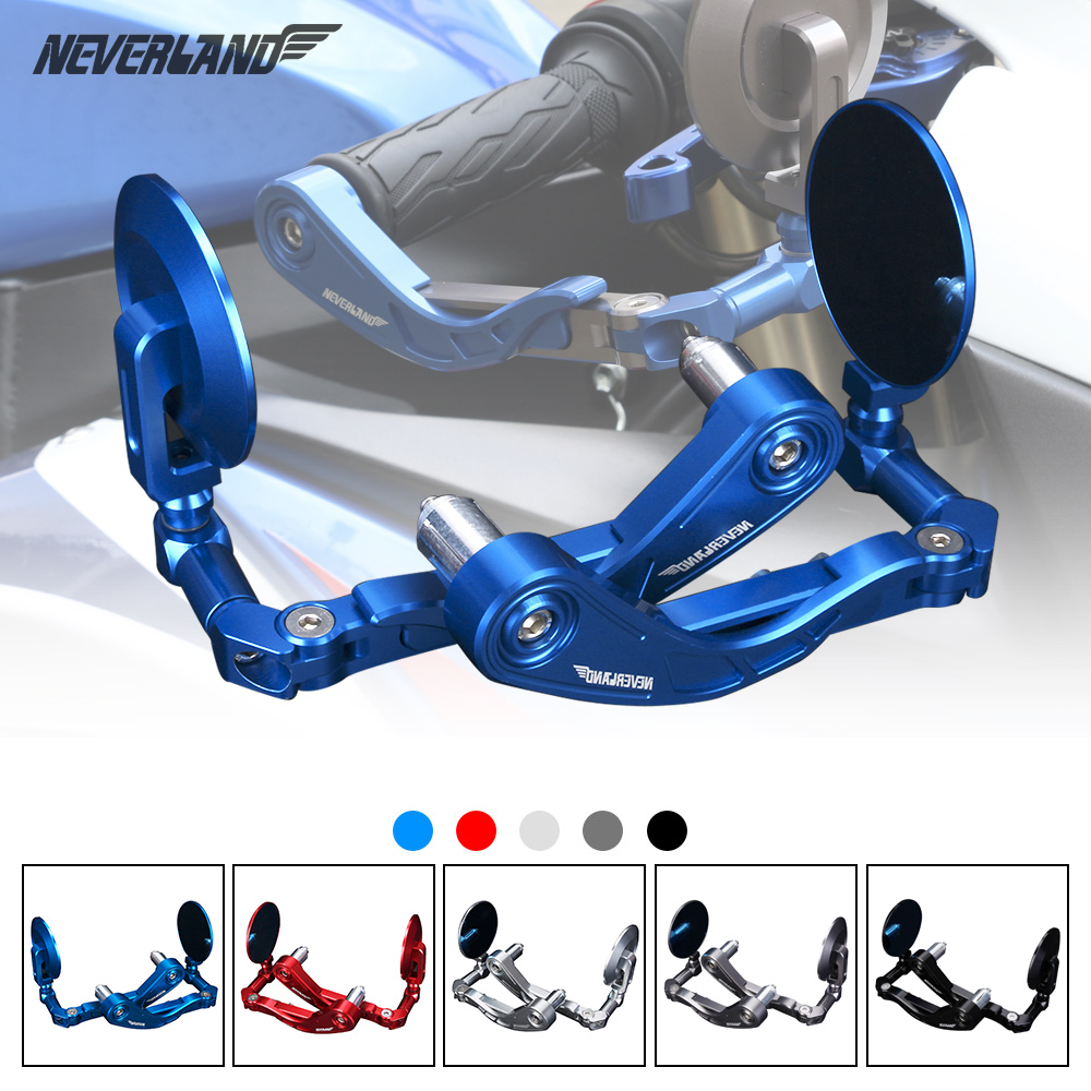 22mm Protector Handlebar Motorcycle Proguard Brake Clutch Systems Levers Protect Guard CNC Aluminum with Rear View Side Mirror