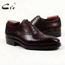 Cie/мужские туфли-броги с квадратным носком на заказ; кожаные туфли ручной работы; Мужские модельные оксфорды из телячьей кожи; темно-коричневые; Goodyear ox413