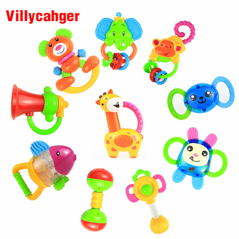 Baby Toys Plastic Hand Jingle Shaking Bell Ring Rattle Toddler Kids Handbell Music Toy Gift For Newborn Children 0-12 Months