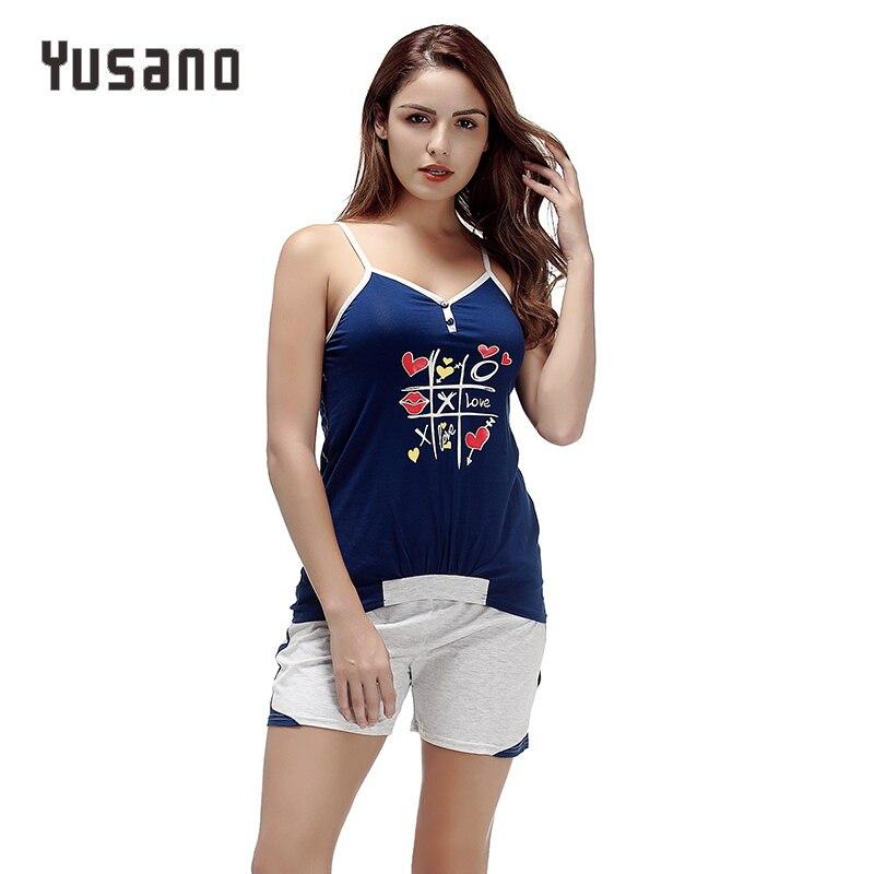 70742e603c Yusano 2017 Unicorn Pajamas for Women Sexy Sleeveless Patchwork Stripe  Sleepwear Kigurumi Print Black Blue Skinny Nightwear