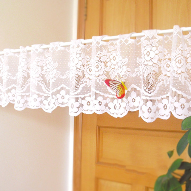 Embroidered Vintage Curtain Coffee Valance Cafe Curtain Sheer For Home  Rural Sheer Window Curtain Lace Kitchen
