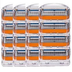 16 шт./упак.. Для мужчин бритвы лезвия высококачественные, для бритья кассеты уход за лицом лезвия для бритья Совместимость с Gillettee Fusione