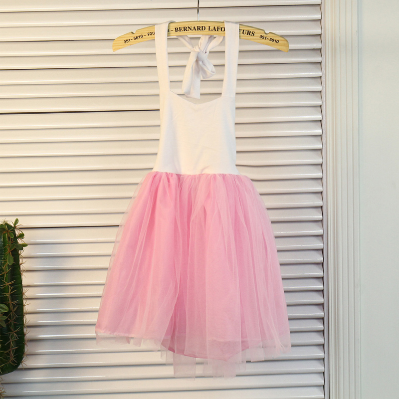 B&N Fashion Spaghetti Girl Dress Wedding Party Tulle Dress For Children Princess Summer Dresses Clothing 1-66