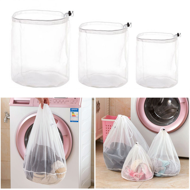 3 Size Drawstring Bra Underwear Products Laundry Bags Baskets Mesh Bag Household Cleaning Tools Laundry Supplies GHMY