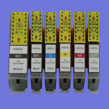 PGI450 450 CLI451 451 Ink Cartridge Pengganti Canon PIXMA MG5440 MG5540 MG6340 MG6440 MG7140 IP7240 Printer Inkjet(China)