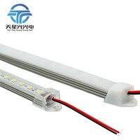 6ピース* 50センチ工場直接50センチdc 12ボルト36 smd 5050 ledハード剛体ストリップバー照明光でuアルミプロファイル
