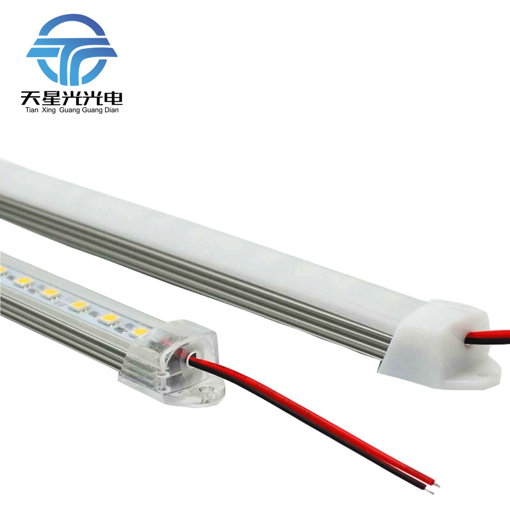 6pcs*50cm Factory direct 50cm DC 12V 36 SMD 5050 LED hard rigid strip bar light with U Aluminium profile, milky clearly covers 5pcs lot high light dual chip 8520 smd led rigid light clear milky cover led bar light strip dc 12v 5a power supply adapter