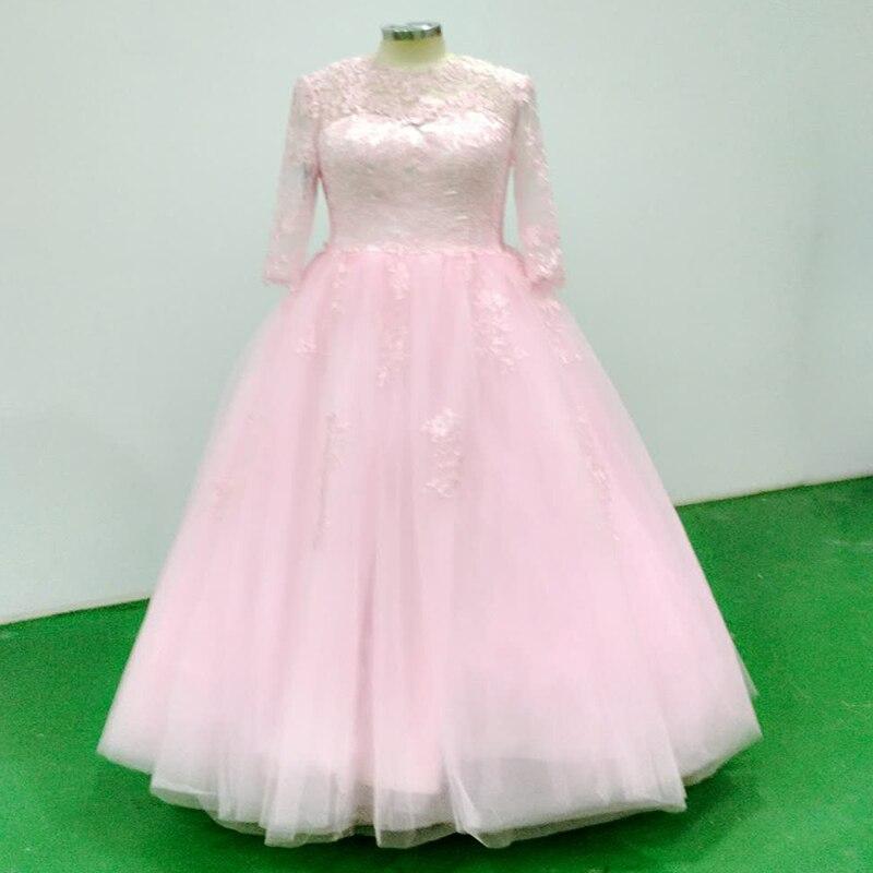 355991c7a1c wuzhiyi 2018 Quinceanera Dresses Custom made pink elegant dress zipper back  Ball Grown 15 years dress 100% true picture dress-in Quinceanera Dresses  from ...