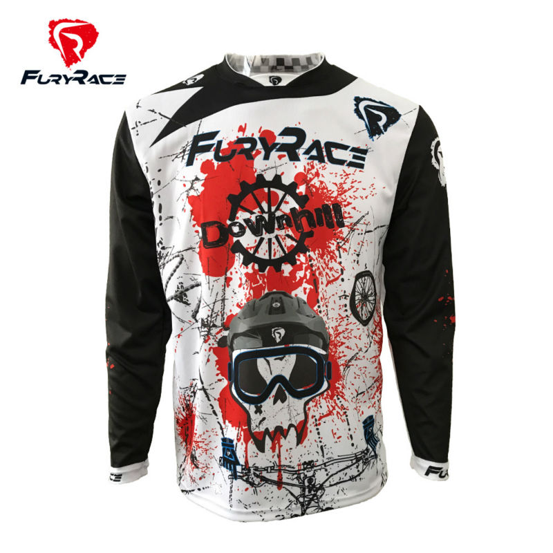 Fury Race 2017 Bicycle MTB Jersey Men Cycling Clothes Bicycle Wear Downhill DH Jerseys Long Sleeve Motocross Bike Shirt Clothing photo background photography backdrops vinyl flowers