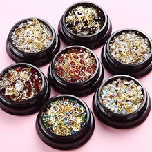 1 Jar Mix Nail Charm Caviar Rhinestone Moon/Heart-shape/Triangle/Horse Eye Nail Gem Charm For Nail Accessories Charm Decoration# цена