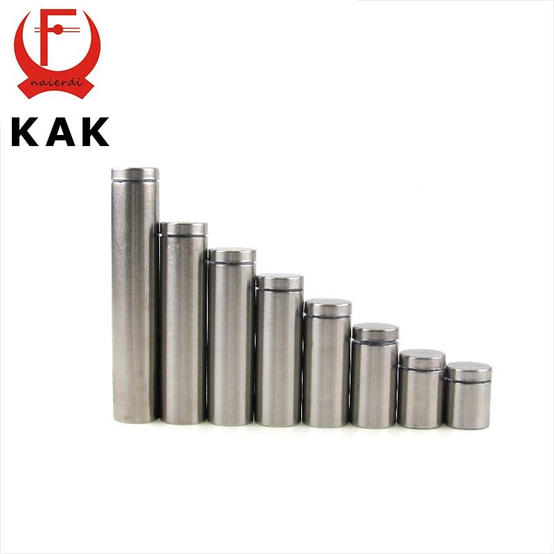 KAK Glass Fasteners Diameter 16mm Stainless Steel Acrylic Advertisement Standoffs Pin Nails Billboard Fixing Screws Hardware