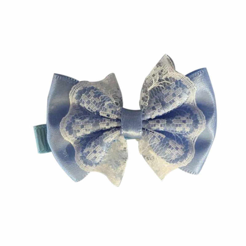 Cute Hairpin Lace Bowknot Hair Clips Baby Girl Child Hair Accessories Baby Headwear  sandalia acessorios para cabelo