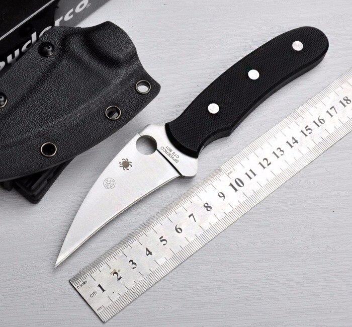 5CR15MOV Blade 58HRC Survival font b Knife b font Spyder Fixed Blade font b Knife b