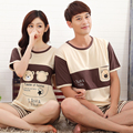 Couple Pajama Summer 2017 Lovers Sleepwear Sets Male Female OuterWear Pajamas Homme Lounge Sleepwear Men Pajamas Sleepwear