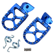 Motorcycle MX Wide Foot Pegs Pedals Rest Footpegs For Yamaha TC65 TC85 TC125 TC250 FC 250- 450 TE FE 150-501 FS450 TX125