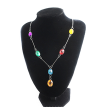 Thanos Infinity Stones Crystal Charm Choker Necklace Avengers 3 War for Women Girl Cosplay Jewelry