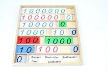 Детские Игрушки Монтессори Вуд Банк Игра Математика Дошкольное Образование Дошкольное Обучение Детей Brinquedos Juguetes