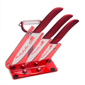"Ceramic Knife Set 5"" Slicing 4"" Utility 3"" Paring Knife A Ceramic Peeler And Knife Stand Kitchen Knives Cooking Tools Best Gift"