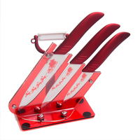 Ceramic Knife Set 5 Slicing 4 Utility 3 Paring Knife A Ceramic Peeler And Knife Stand