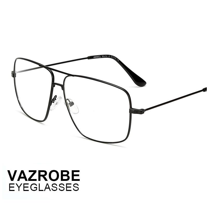 7888234475 Vazrobe cheap thin Gold Glasses Men Women Optical Lens metal alloy Flat Top  Eyeglass optical lens Eyewear for Man ultra light-in Eyewear Frames from  Apparel ...