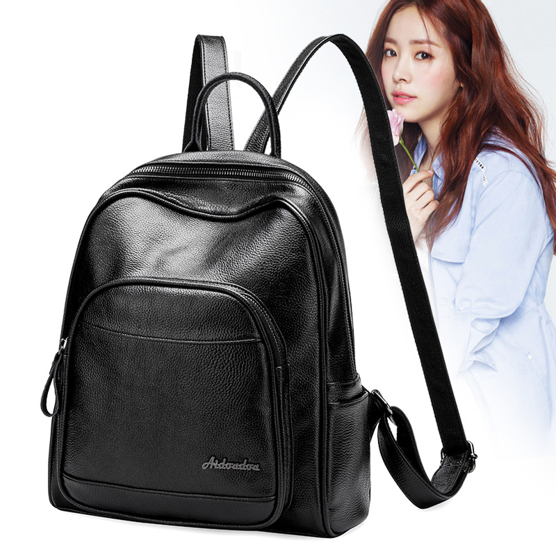 Women's Backpacks Genuine Leather Female Backpack Women School Bag For Girls Large Capacity Shoulder Travel Mochila 2016new rucksack luxury backpack youth school bags for girls genuine leather black shoulder backpacks women bag mochila feminina