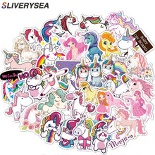 100pcs Cute Sticker for Unicorn JDM Graffiti DIY Stickers for Laptop Car Luggage Phone Bicycle Decals Kid Toy