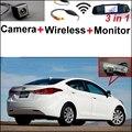 3 in1 Специальный Камера Заднего Вида + Беспроводной Приемник + Зеркало монитор DIY Система Парковки Для Hyundai Avante XD HD MD UD