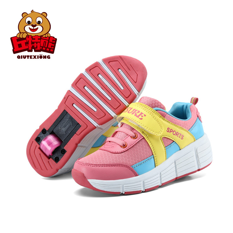 Shoes Girls Kids Running Shoes Children Sneakers with Wheels Boys Shoes Hot Sale School kids-shoes Big Child Sneakers joyyou brand usb children boys girls glowing luminous sneakers teenage baby kids shoes with light up led wing school footwear
