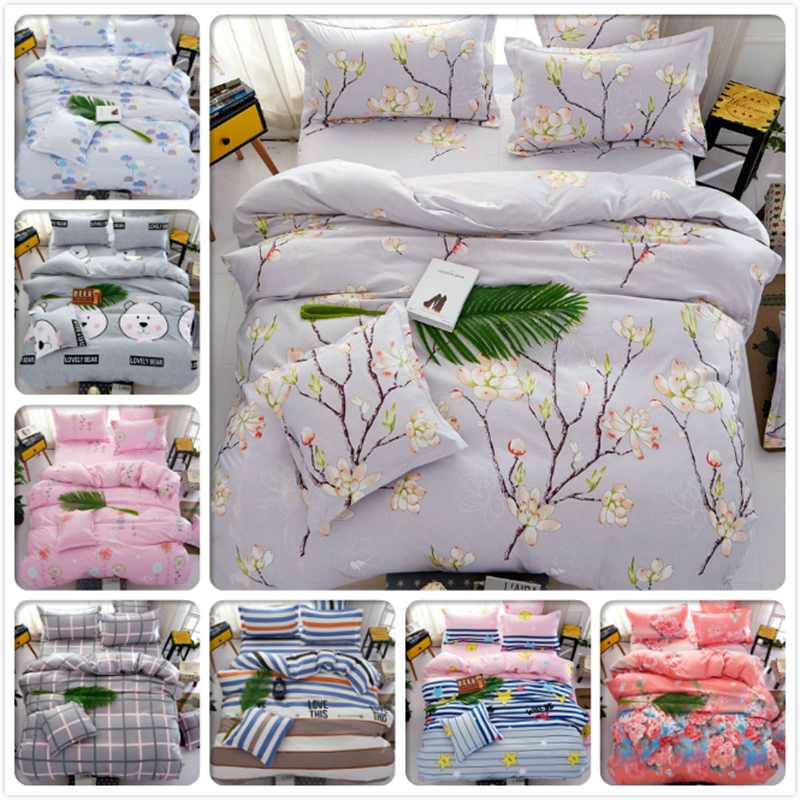 Tree Plant Winter Aole Cotton Kids Bedlinens 3/4 pcs Bedding Sets King Queen Double Size Duvet Quilt Cover 1.5m 1.8m 2m Bedsheet