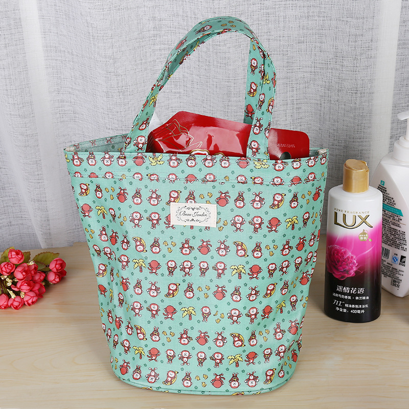 2019 tote stuff pouch cotton shopping bag women item organizer  eco bag for lady bags printing flower decoration Wholesale
