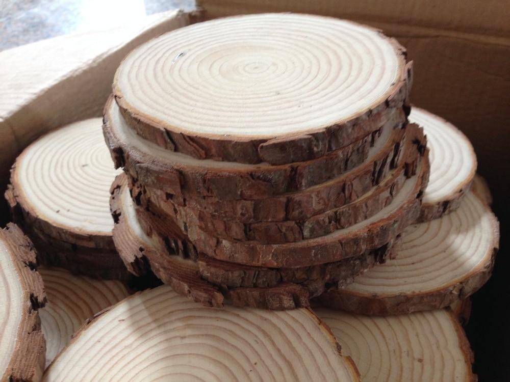 6 - 8 cm-es természet fenyő faforgács polírozott alap kézműves kézműves mini mikro tereprendezés otthon kerti díszítés DIY kiegészítők
