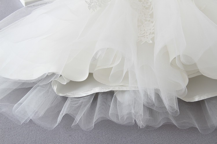 Ivory Tulle Lace Flower Girl Dress 10