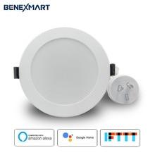 חכם Downlight LED Alexa גוגל עוזר קול בקרת Dimmable שקוע Downlight WiFi APP בקרה
