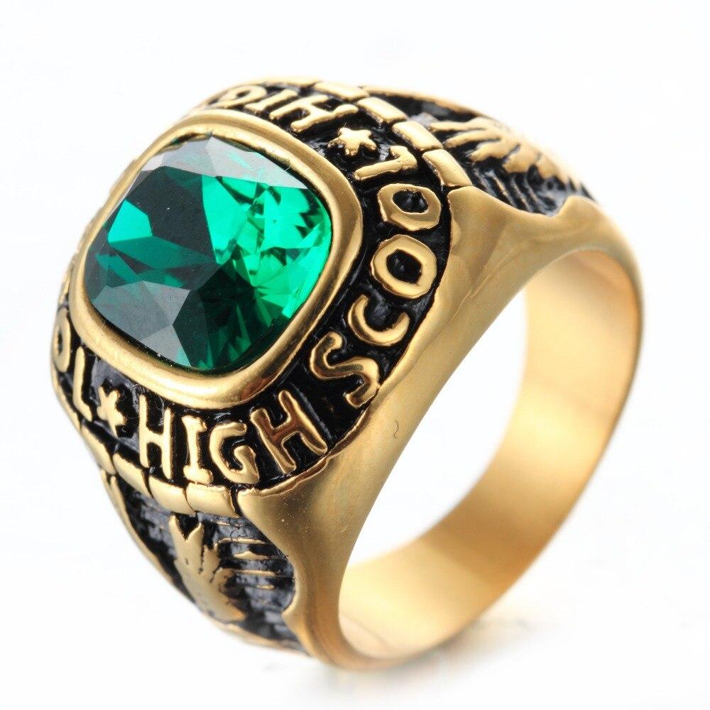 웃 유El águila dorado 316L Acero inoxidable piedra azul piedra de ...
