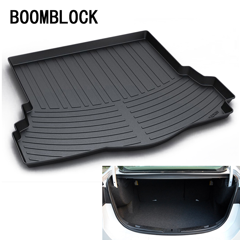 BOOMBLOCK For Ford Mondeo MK5 5 2013 2014 2015 2016 2017 2018 Waterproof Anti-slip Car Trunk Mat Tray Floor Carpet Pad Protector trunk mat for ford mondeo 2008 2014 durable waterproof luggage mats tray for dogs