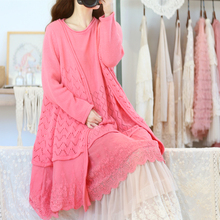 Lace Embroidery Knit Sweater