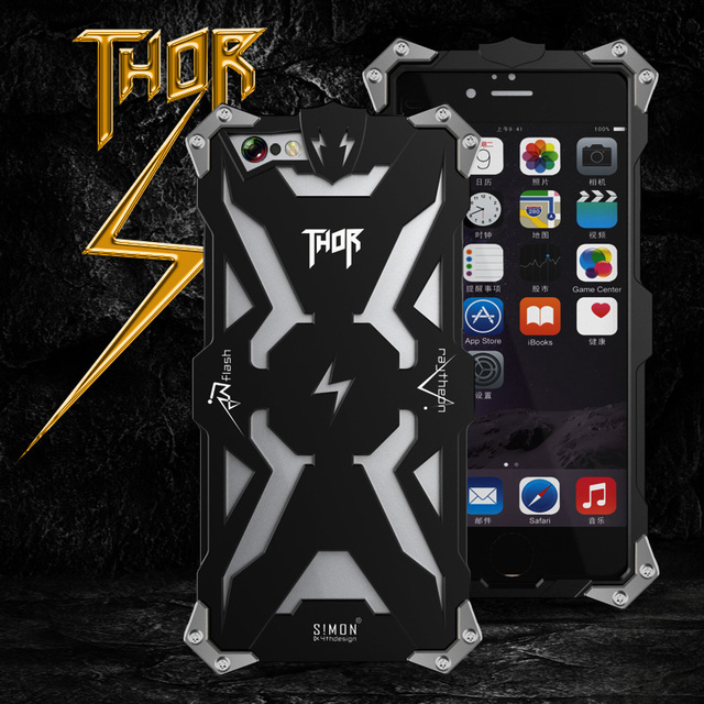 4ccfc2cb0 6S 7 Original Design metal Shell Cool Metal Aluminum THOR IRONMAN protect phone  cover shell cases