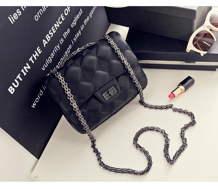lkprbd The new small leather mini bag 100% authentic sheepskin Pyramid Lingge Chain Bag Shoulder Bag Messenger Bag female tide