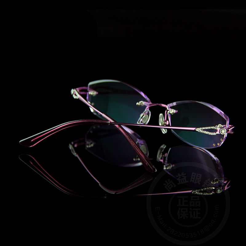 Excellence Lens Reading Glasses Women Rhinestone Readers Eyewear Rimless  Frame Purple Presbyopic Diopter Eyeglasses Elderly 058-in Reading Glasses  from ... 51eebe17050f