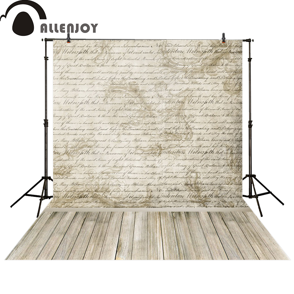 Allenjoy backgrounds for photo studio vintage love letter wooden floor computer printing newborn photo studio