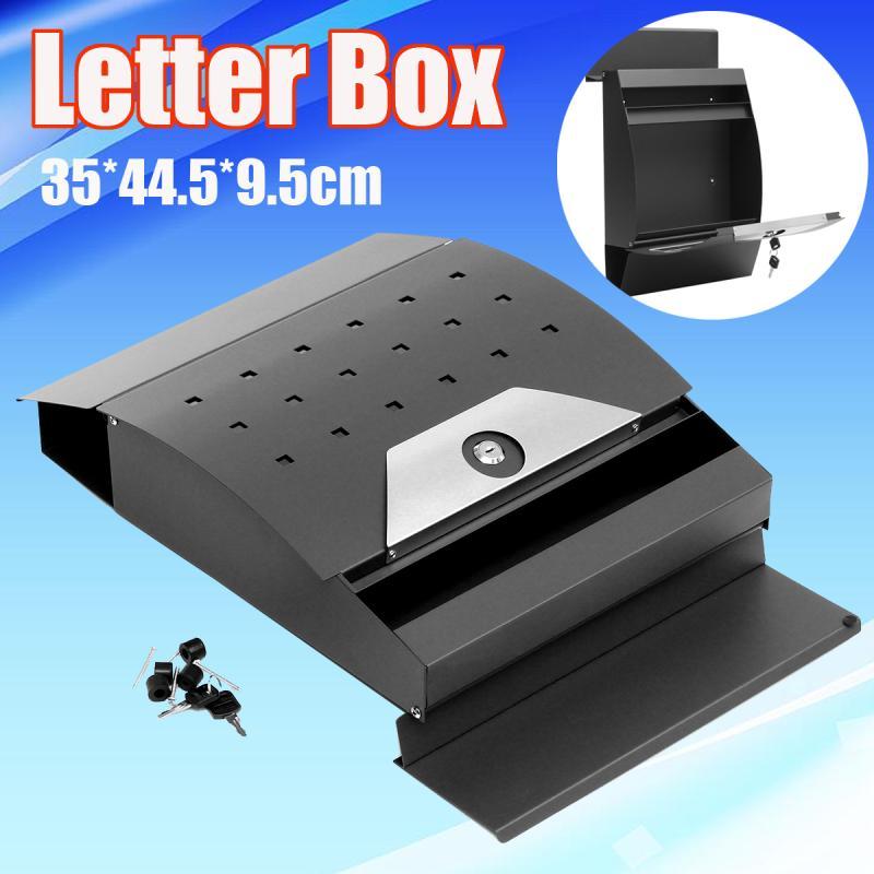 Modern Metal Mail Box Case Metal Tin Newspaper Letter Mailbox Post Box Lockable Box Garden Ornament
