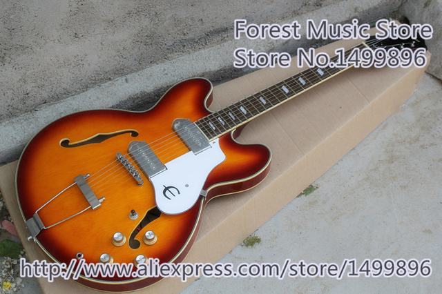 Cheap Hot Selling Hollow Body Electric Jazz Guitars With Chrome Hardware From China Musical Factory