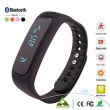 E02แฟชั่นสร้อยข้อมือบลูทูธสมาร์ทป้องกันการสูญหายกีฬา/การนอนหลับการตรวจสอบโทร/SMSเตือนS MartbandนาฬิกาสำหรับAndroidโทรศัพท์iPhone