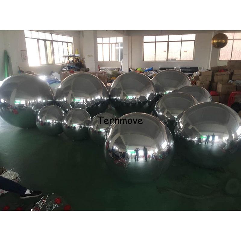 5 couleurs Miroir Show Balle Réfléchissant Géant Gonflable Boule À Facettes Offre Spéciale Géant Ballon Gonflable Pour La Publicité